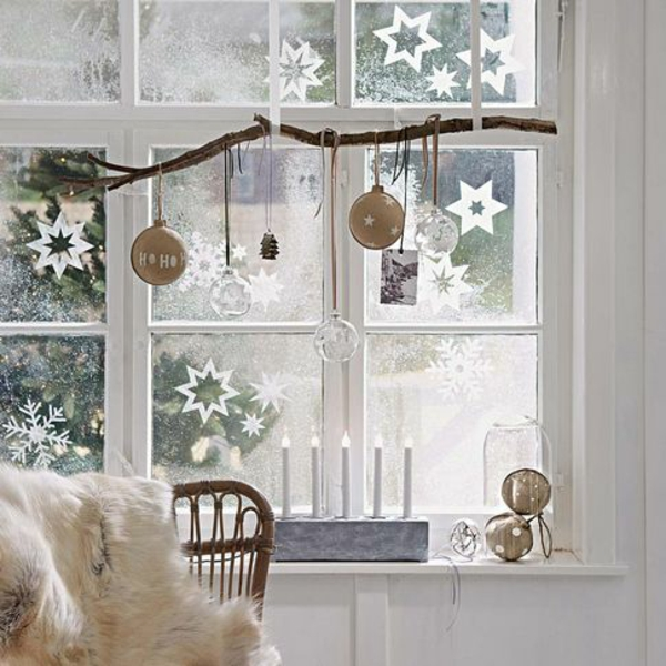 craft ideas for windows Christmas decoration themed