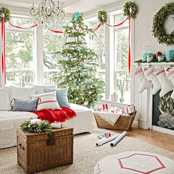 craft ideas for windows Christmas decorations living room