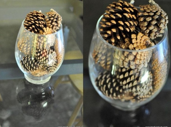 tinker med pinecone glass