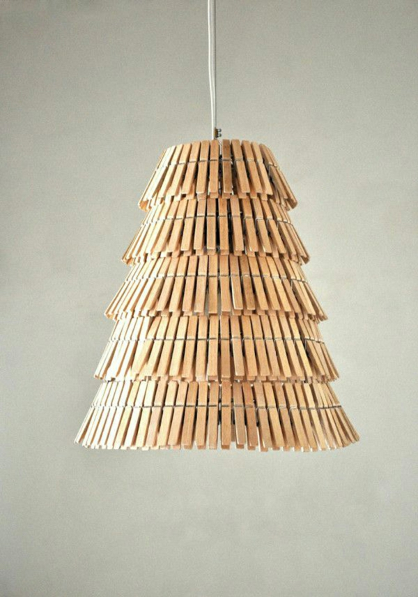 tinker with clothespins chandelier wood