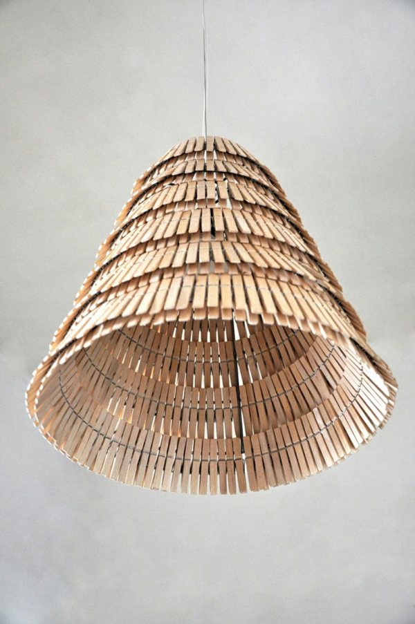 tinker with clothespins chandelier lampshade wood