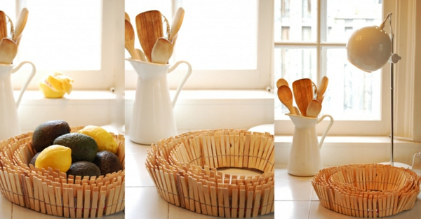 tinker with clothespegs fruit bowl wood