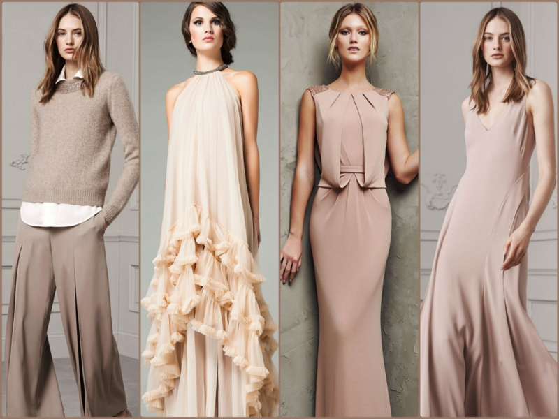beige dresses trend colors current fashion trends