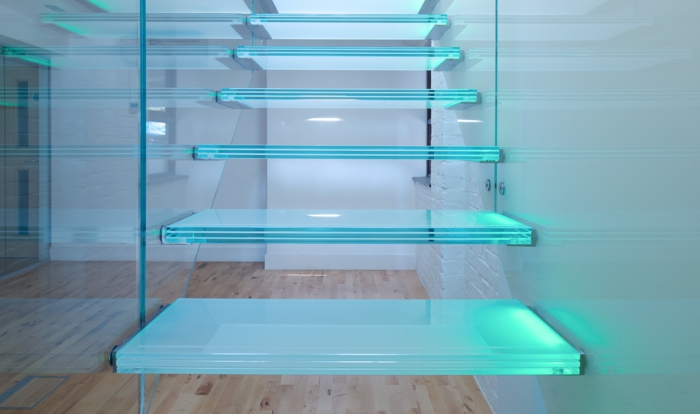 lighting staircase glass staircase railings