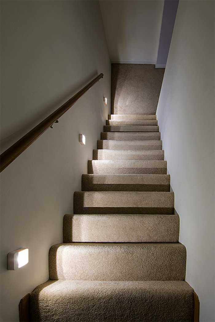 lighting staircase indirectly elegant stair carpet