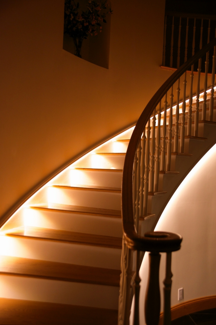 Lighting staircase LED lights beautiful living ideas
