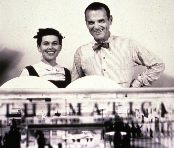 famous architects Charles and Ray Eames portait