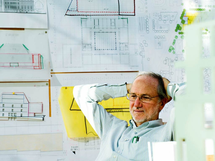 famous architects renzo piano portraet