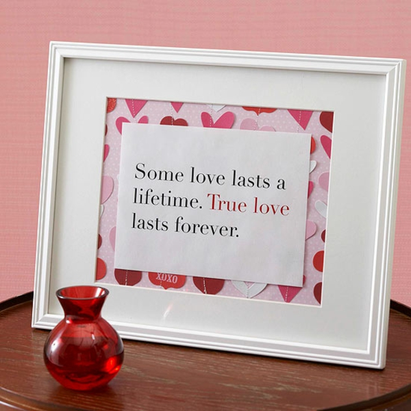 valentine's day picture frame gift