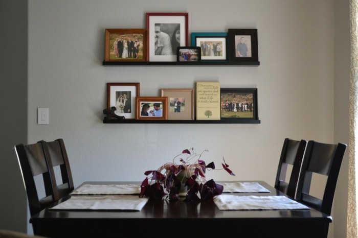picture wall decoration ideas family photos dining room decorate