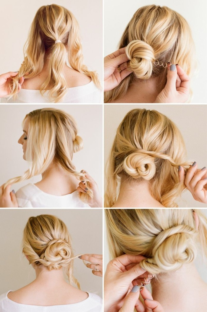 Make-blond-hair-updo-yourself