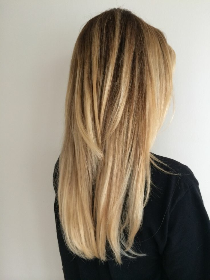 blond tones ombre style long lifestyle hairstyles