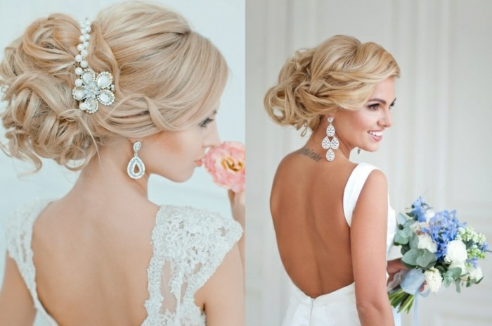 bridal hair-blond-hair-loose-updo
