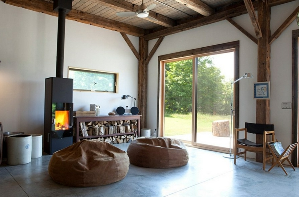 Store firewood properly store fireplace stove beanbags