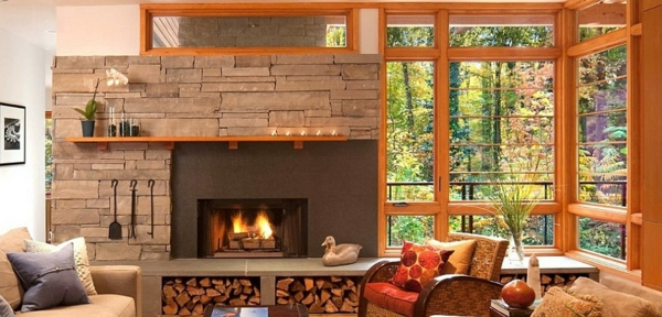 firewood store natural stone tiles tile fireplace