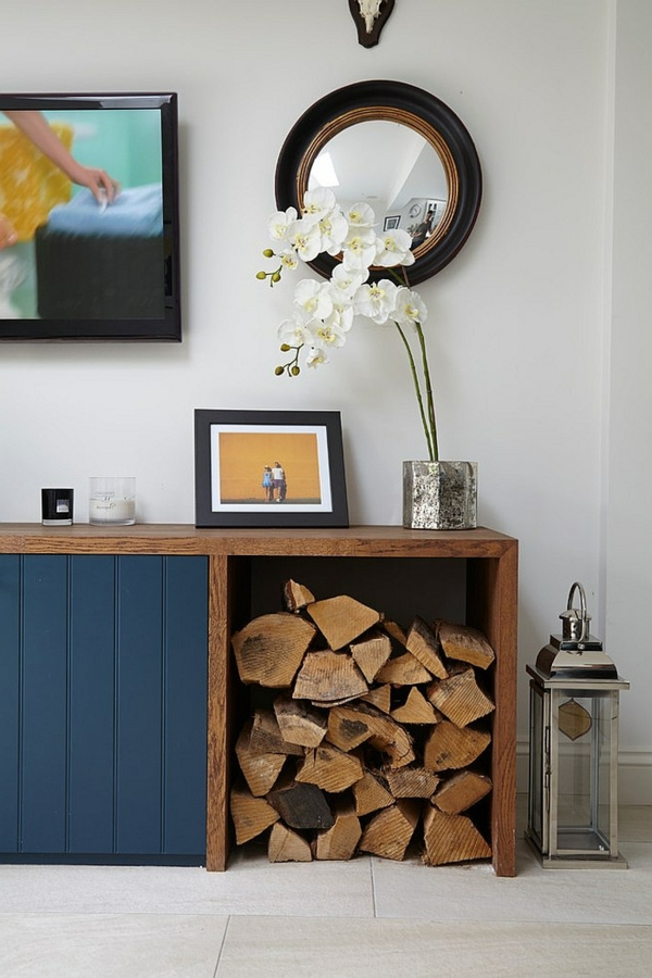 firewood store cupboard decoration