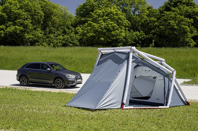 camping tent audi Q3 designer tents from home planet