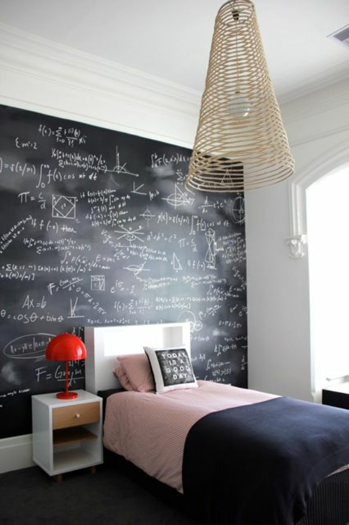 Cool Teenage Room Ideas black chalkboard wall