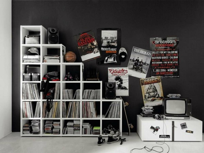 cool young room boys ideas pintura de pared negro