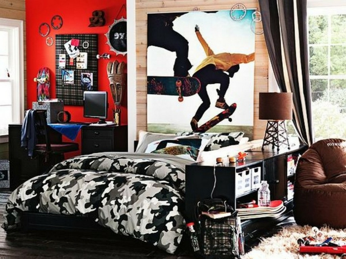 Cool Youth Room Boys Wall Design Ideas