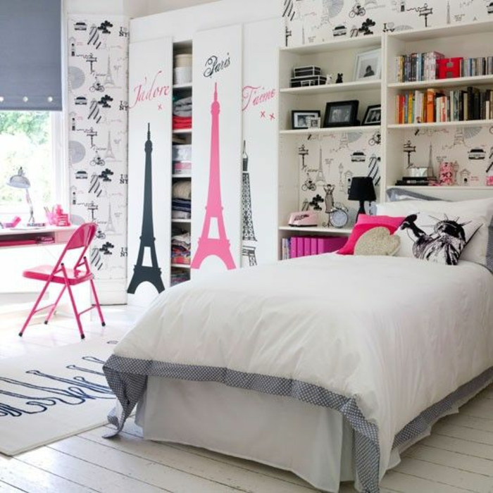 Cool Youth Room girl ideas acentos de cores rasa
