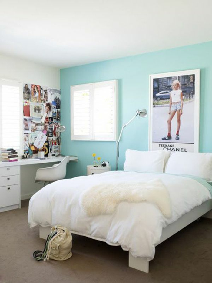 cool youth room girl ideas pintura de pared menta verde
