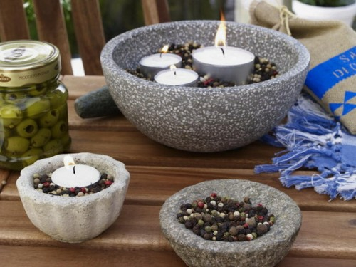 cool candles ideas summer deco gray holder spices