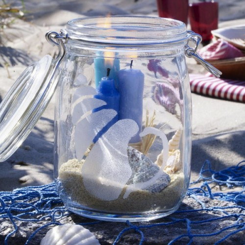 cool candles ideas summer deco sea themed sand shell