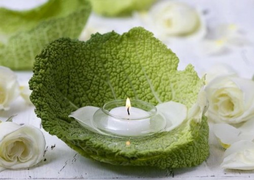 cool candles ideas summer glass of green foliage