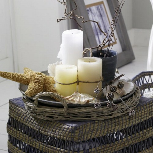 cool candles ideas summer rustic decoration basket