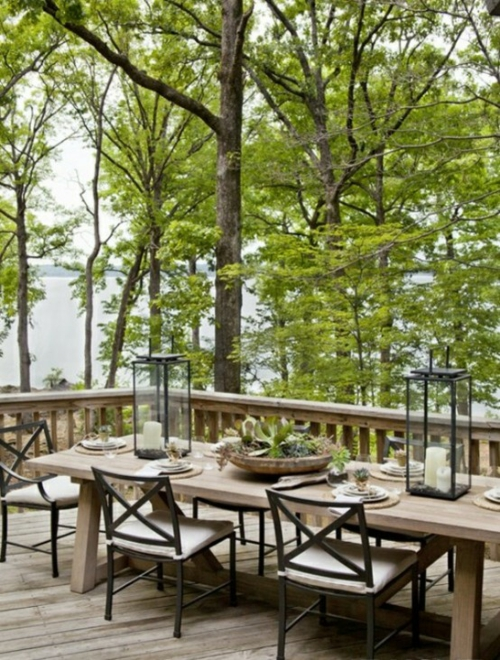 Cool, modern garden furniture designs wood dining room