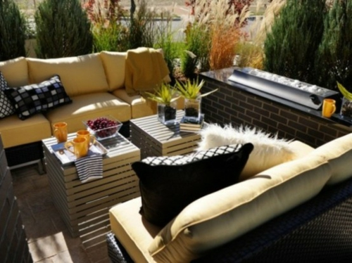 cool modern outdoor furniture designs leather sofa