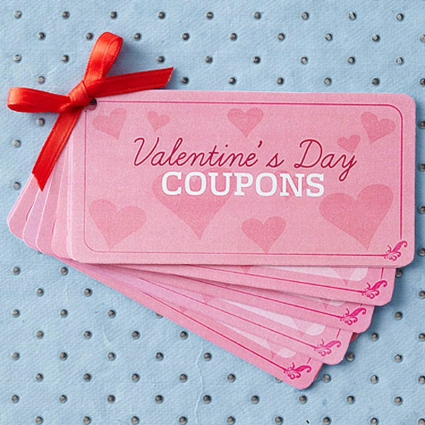 valentines coupons gift