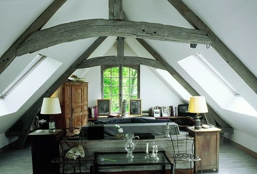 penthouse flat idea rural style french design