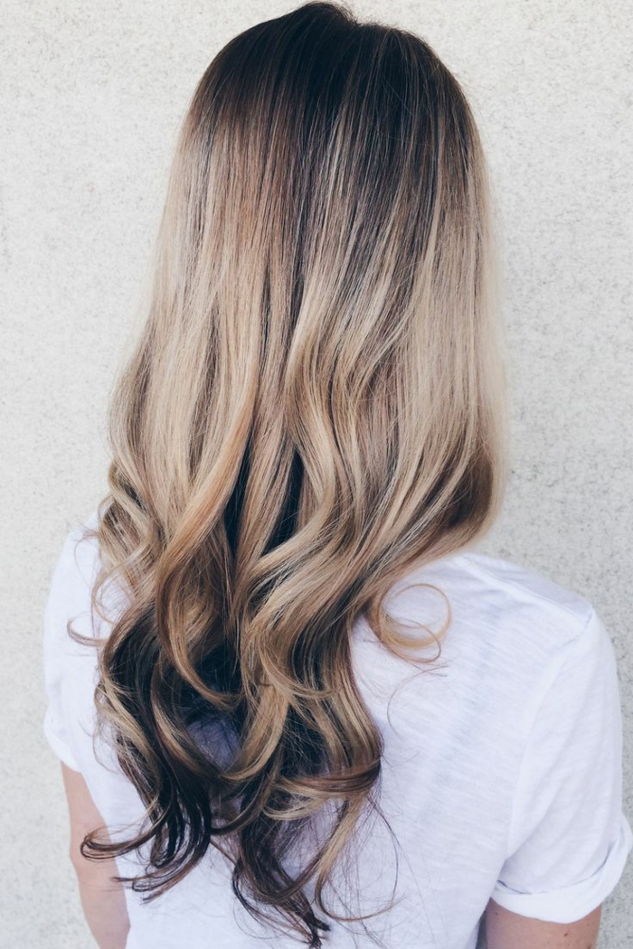 blond hairstyle ombre style lifestyle