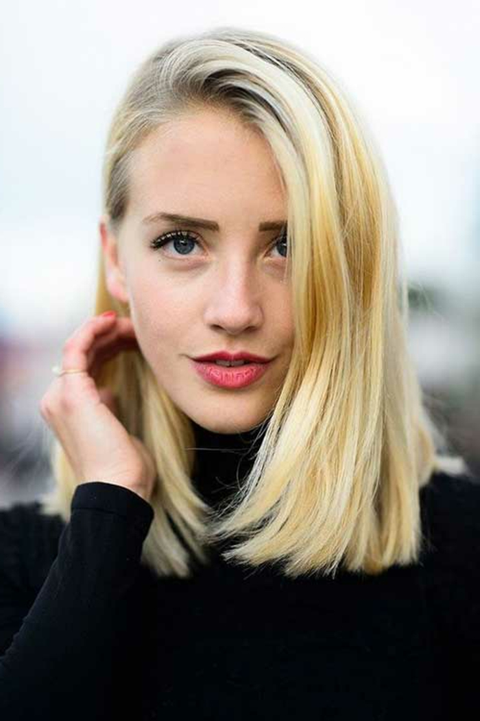 hairstyles straight hair blond shades