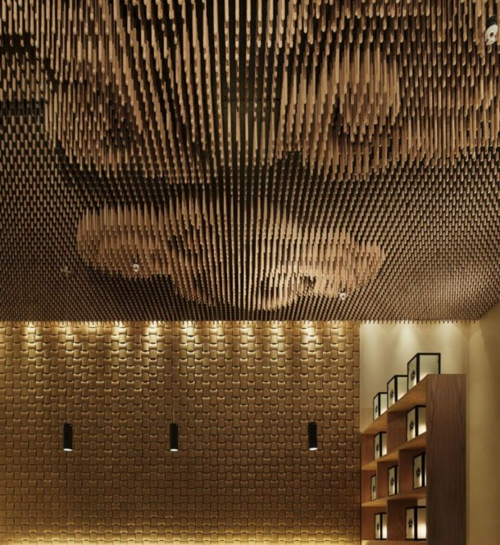 ceiling panel design idea wall design wood