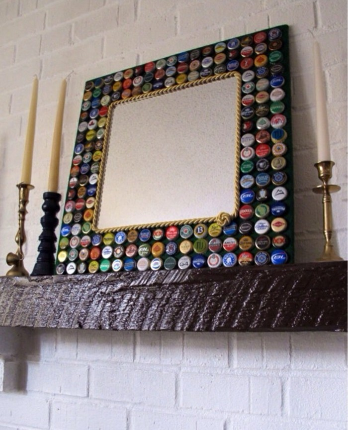 deco-ideas-make-yourself-mirror decorate bottles lid