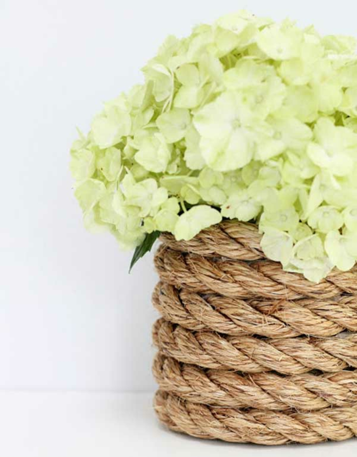 decoration ideas rope rope decoration flower pot