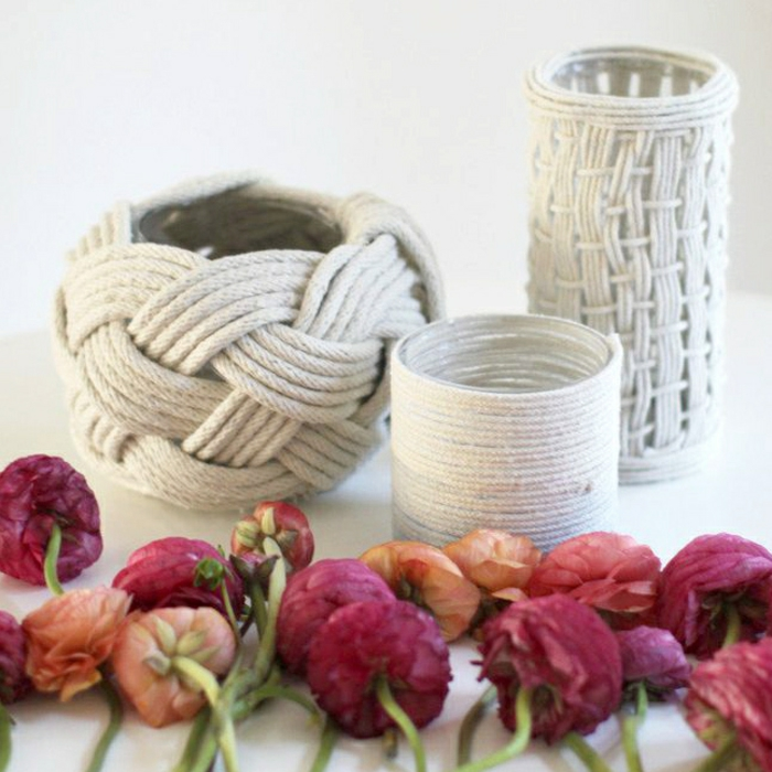 decoration ideas rope rope decoration flower vases