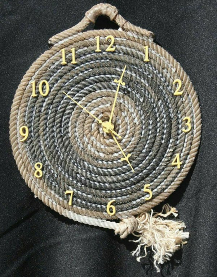 furnishing examples deco rope rope decoration wall clock