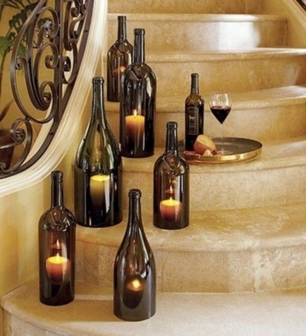 designer lights diy from wine bottle candles