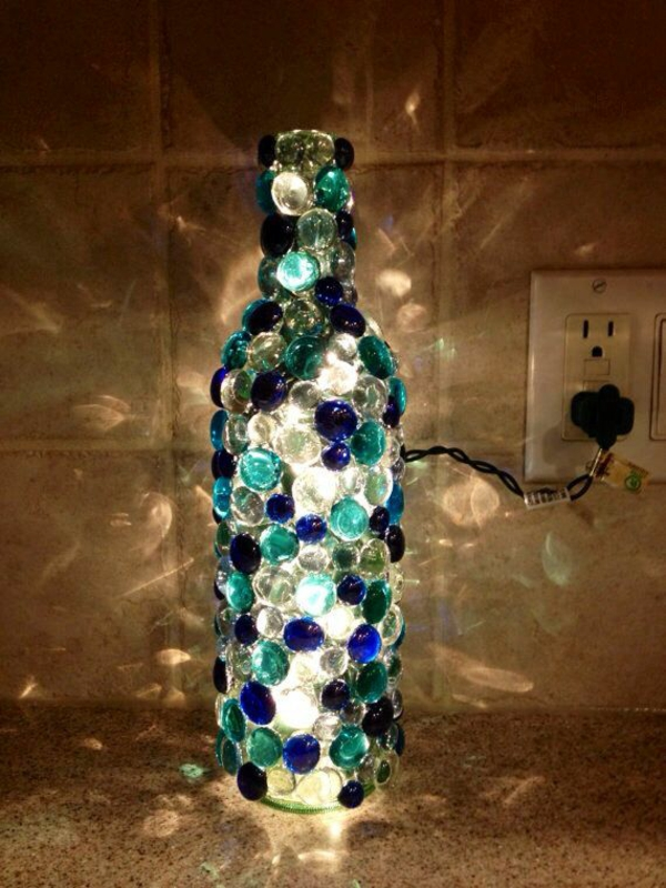 light up diy from wine bottle great