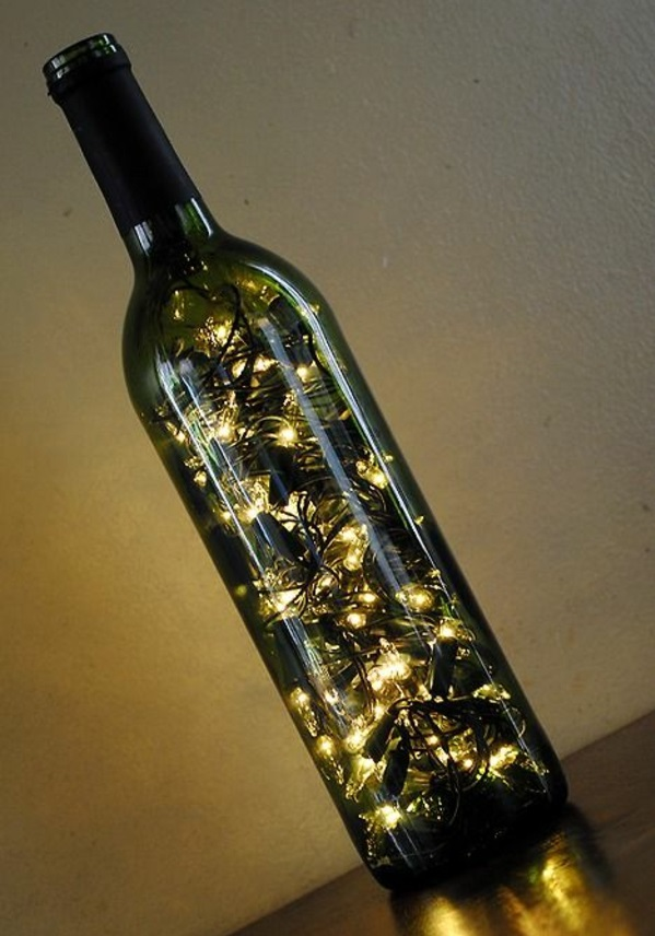 designer light up diy lamp wine bottle