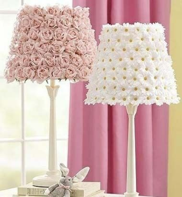 deco ideas spring decoration tinker with children lampshade