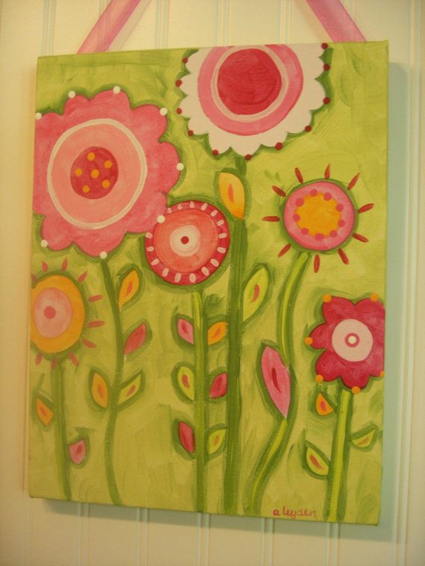 deco ideas spring decoration tinker with children's painting