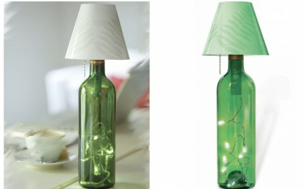 DIY table lamp wine bottle decoration