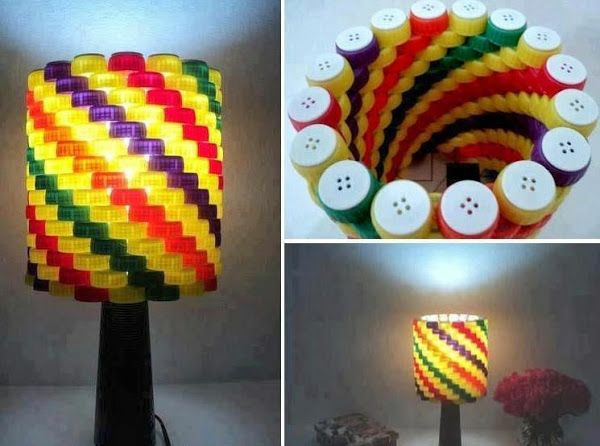 DIY lamp bottle cap light up