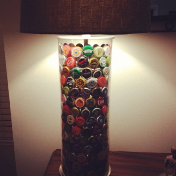 DIY lamp bottle cap deco ideas