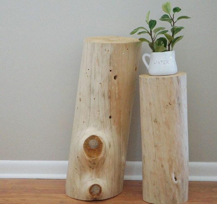 diy furniture woodchip stand de flor de madeira natural